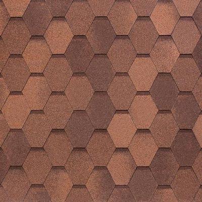 Черепица Тегола NOBIL TILE Вест Красно-коричневый