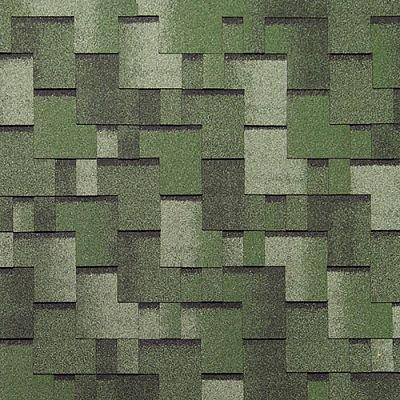 Черепица Тегола Нордлэнд Альпин Зеленый с отливом