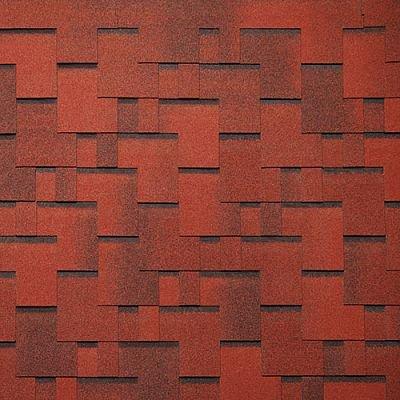 Черепица Тегола Нордлэнд Альпин Красный с отливом