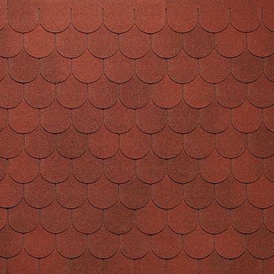 Мягкая кровля Тегола Нордлэнд Антик Красный с отливом